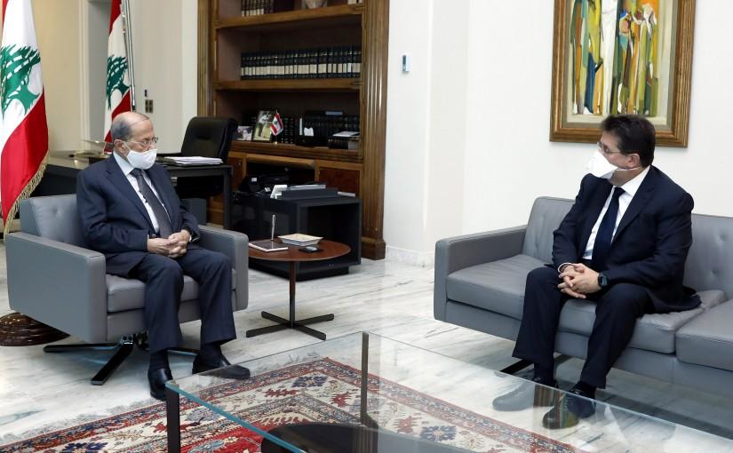 President Michel Aoun meets MP Ibrahim Kanaan.