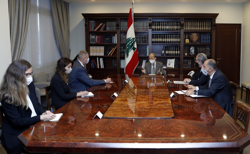 President Michel Aoun meets Mr. Jan Kubis.