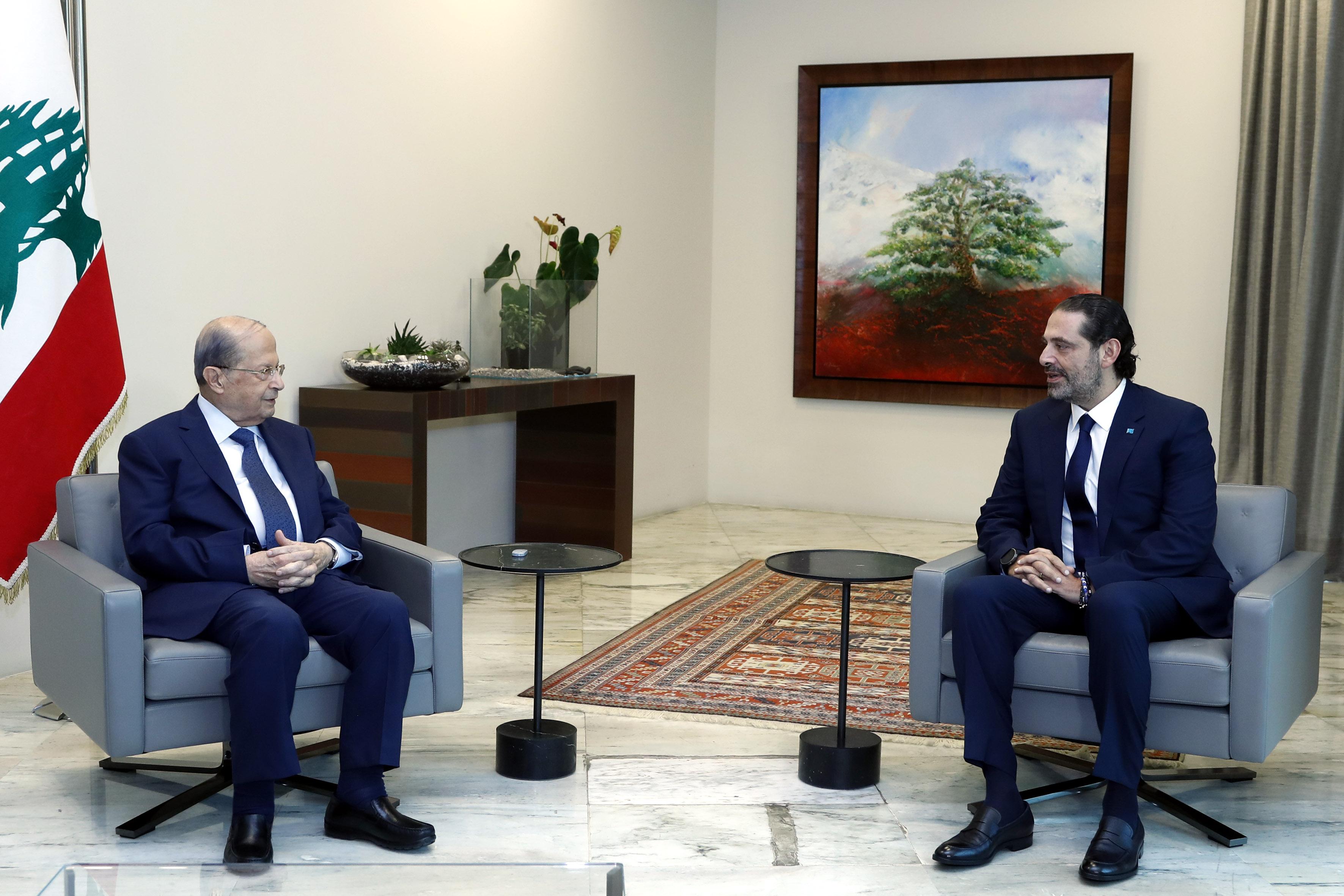 01 -President Michel Aoun meets Designated PM Saad Hariri. PM Saad Hariri 1