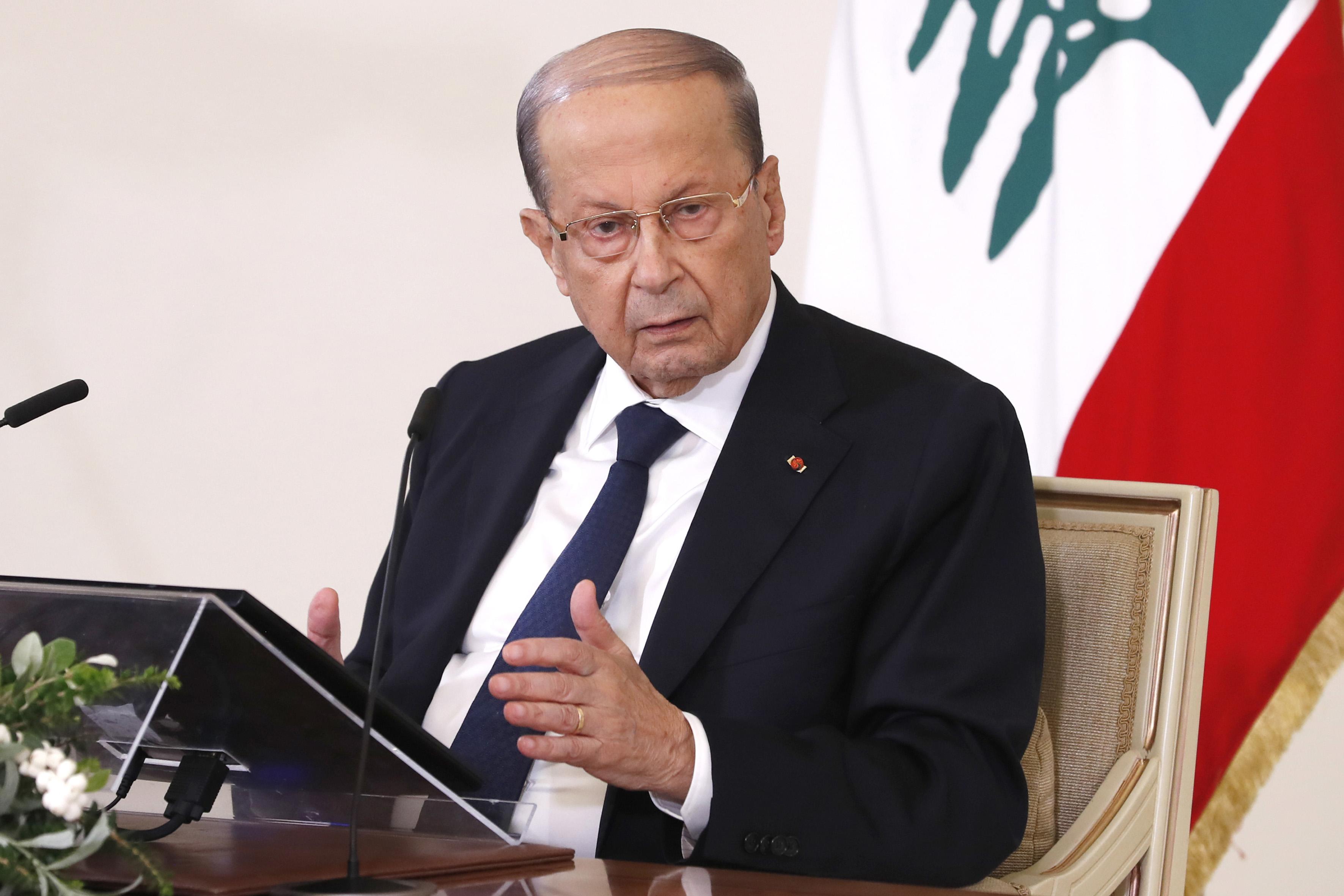 01 - President Michel Aoun press conference 20 oct 2020 (3)