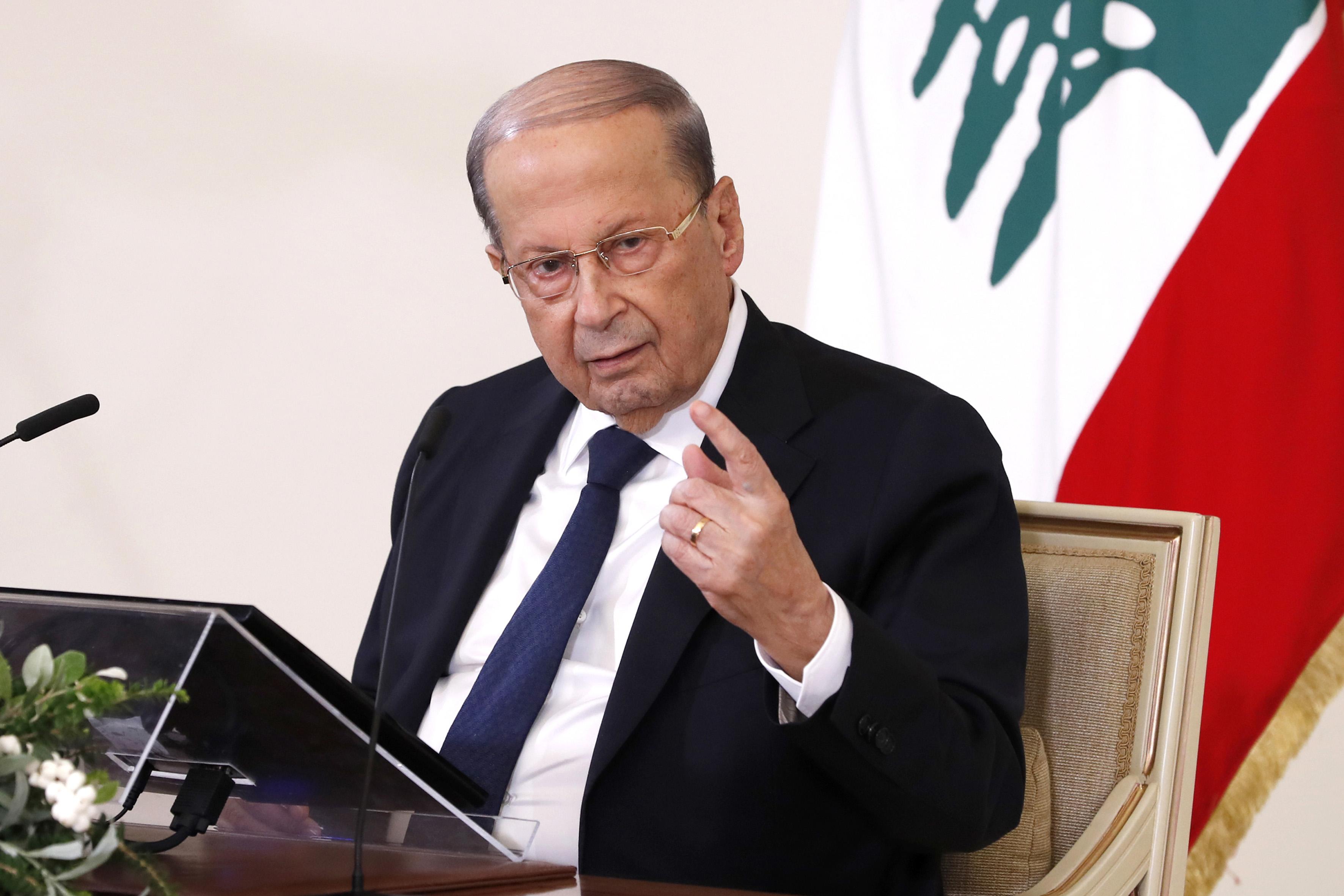 01 - President Michel Aoun press conference 20 oct 2020 (4)
