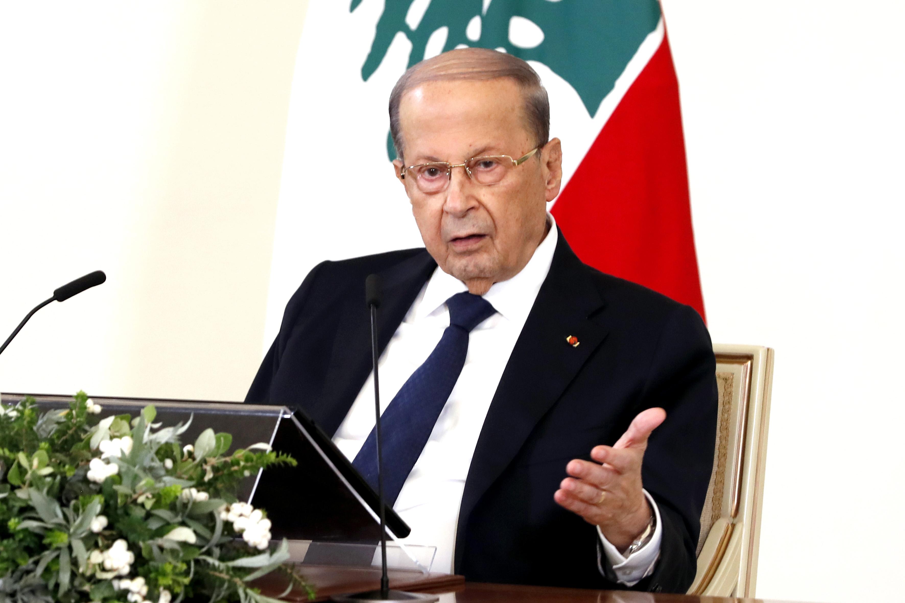01 - President Michel Aoun press conference 20 oct 2020 (6)