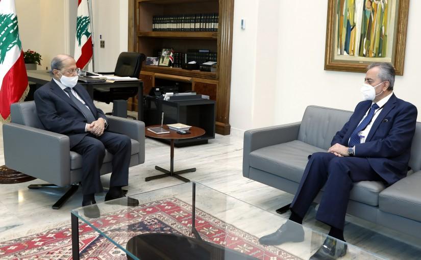 President Michel Aoun meets Ambassador Ali Abdul Karim Ali.