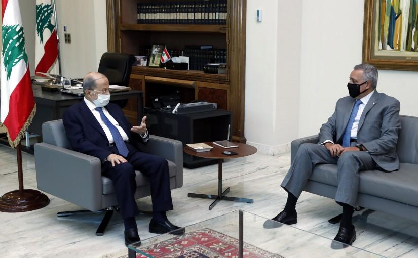 President Michel Aoun meets MP Emir Talal Arslan, Minister Ramzi Msharafieh &  former Minister Saleh Al-Gharib