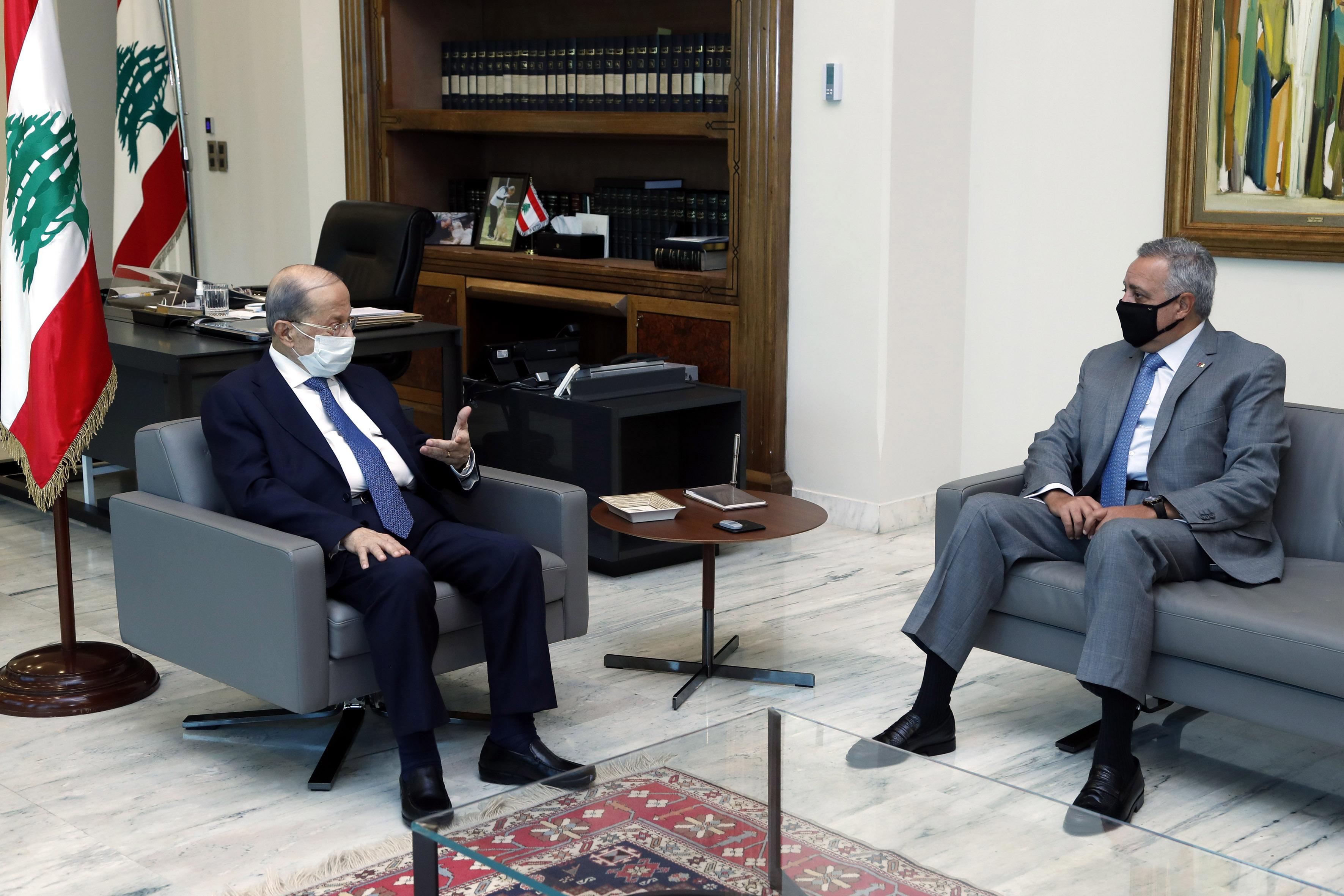 1 - MP  Emir Talal Arslan &  former Minister Saleh Al-Gharib 1