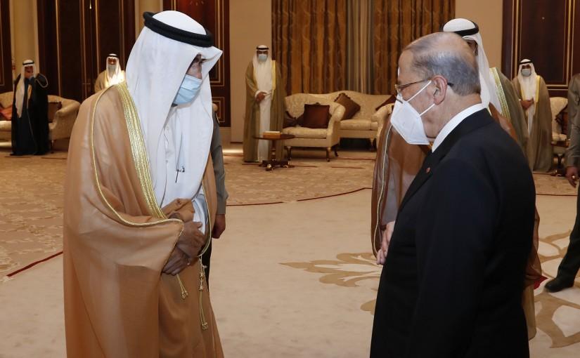 President Michel Aoun President His Condolences to Prince of  Kuwait