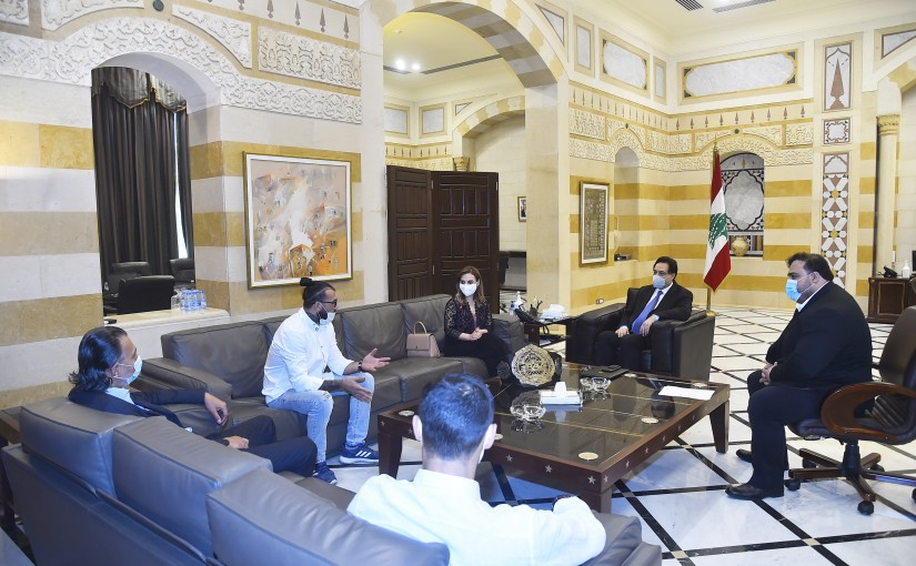 Pr Minister Hassan Diab meets Mr Mouhamad Fakhredine with a Delegation