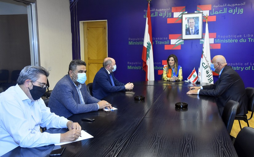 Minister Lamya Yamine meets a Delegation from Lebanese Labour