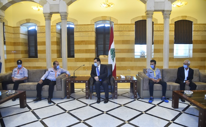 Pr Minister Hassan Diab meets a Delegation from Lebanese Scout