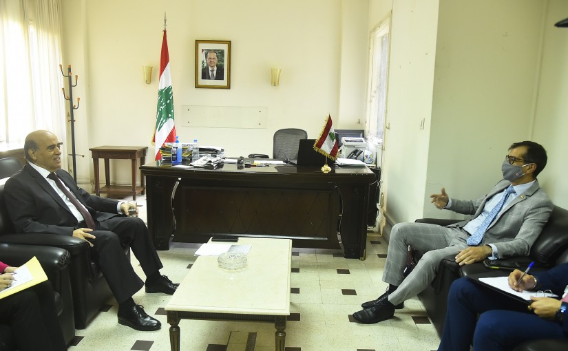 Minister Charbel Wehbeh meets Portugal Charges D affairs