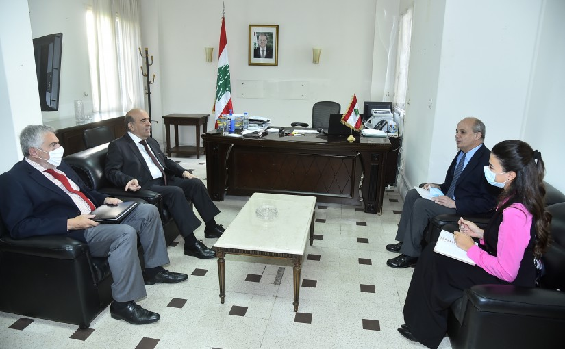 Minister Charbel Wehbeh meets Spanish Ambassador