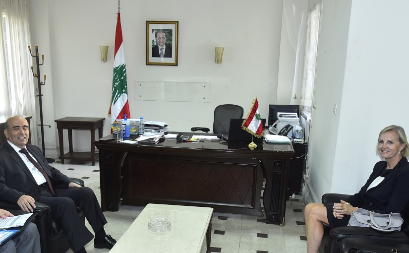 Minister Charbel Wehbeh meets Sweden Charger D Affairs
