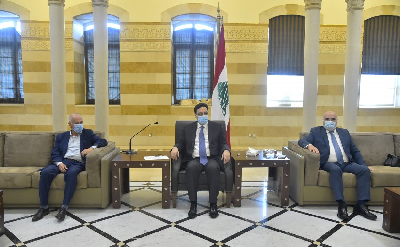 Pr Minister Hassan Diab meets a Delegation from Lebanese Teachers