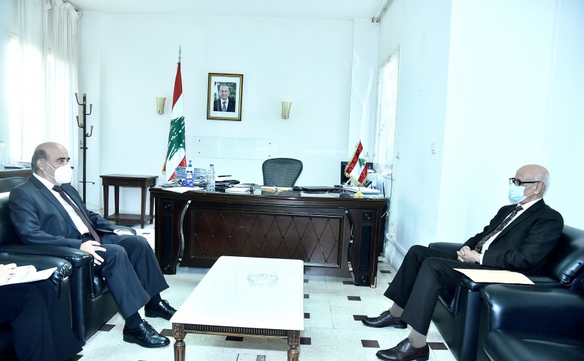 Minister Charbel Wehbeh meets Morocco Ambassador