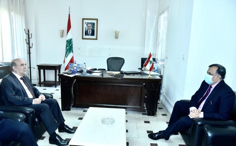 Minister Charbel Wehbeh meets Indian Ambassador