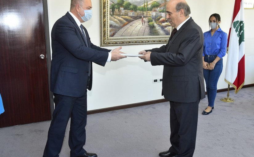 Minister Charbel Wehbeh meets Russian Ambassador