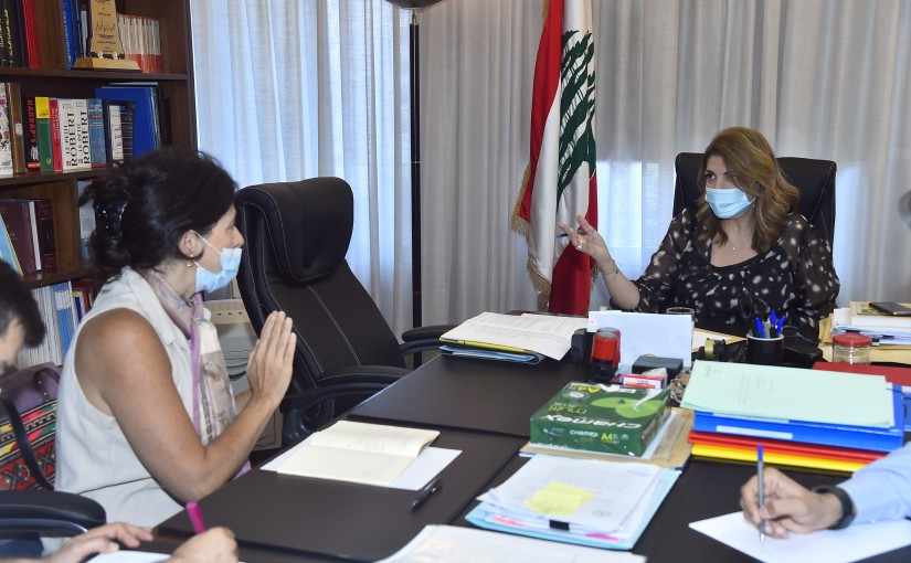 Minister Marie Claude Najem meets a Delegation from World Red Cross