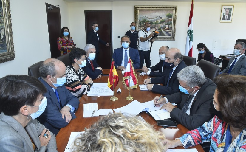 Minister Charbel Wehbeh meets a European Delegation