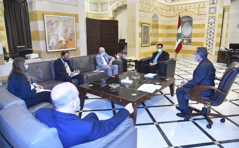 Pr Minister Hassan Diab meets German Ambassador