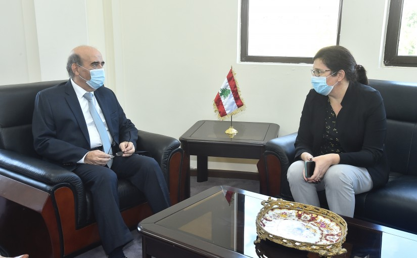 Minister Charbel Wehbeh meets a Delegation from United Nation