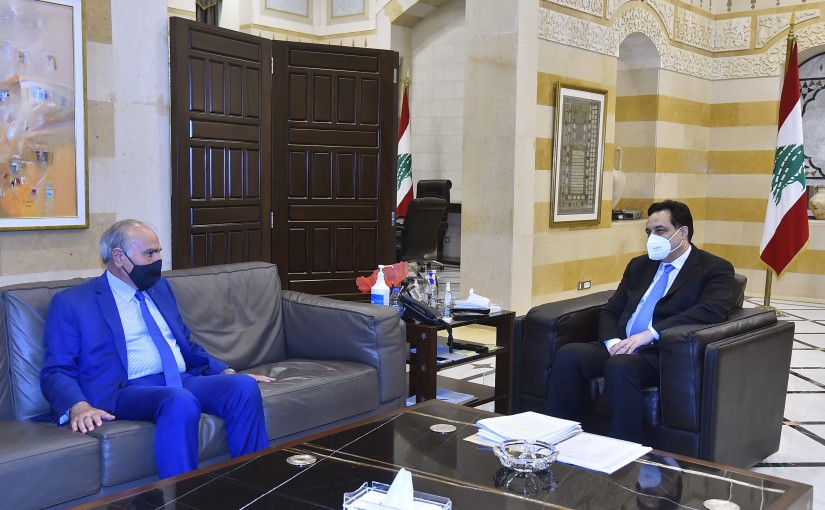 Pr Minister Hassan Diab meets Former MP Emile Rahme