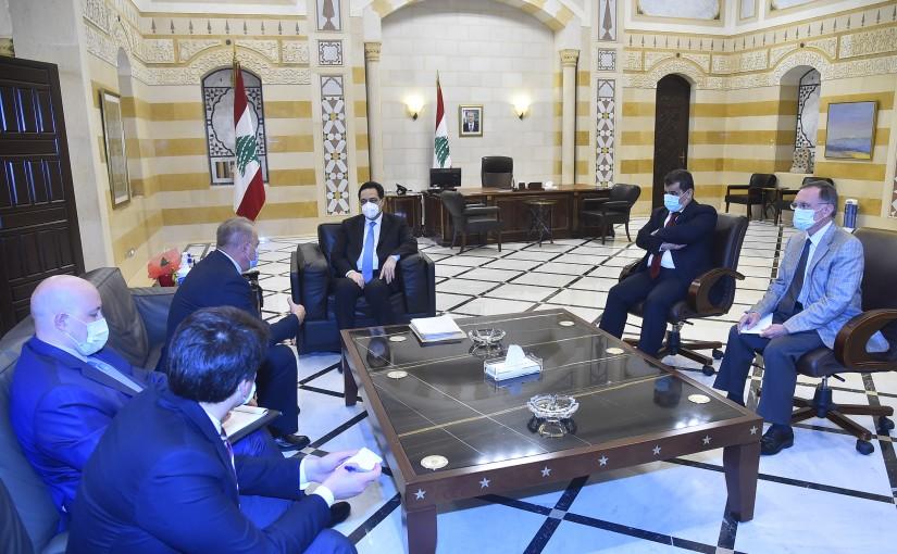 Pr Minister Hassan Diab meets Russian Ambassador
