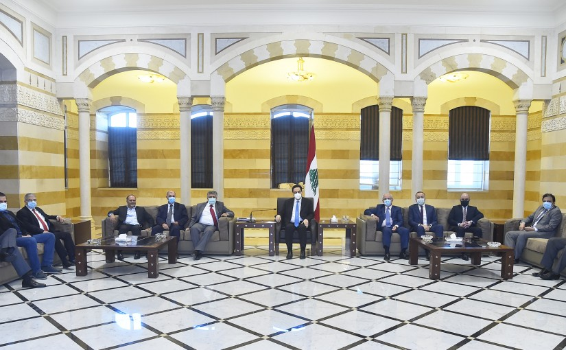 Pr Minister Hassan Diab meets a Delegation from Lebanese Busnissman