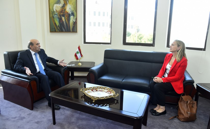 Minister Charbel Wehbeh meets Canadian Ambassador