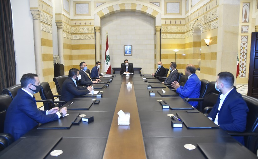Pr Minister Hassan Diab meets a Delegation from Lebanese Businessmen