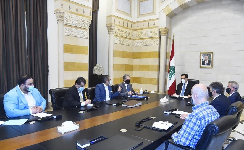 Pr Minister Hassan Diab meets Minister Ghazi Wazni