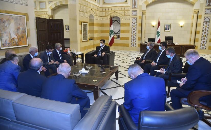 Pr Minister Hassan Diab meets a Russian Delegation