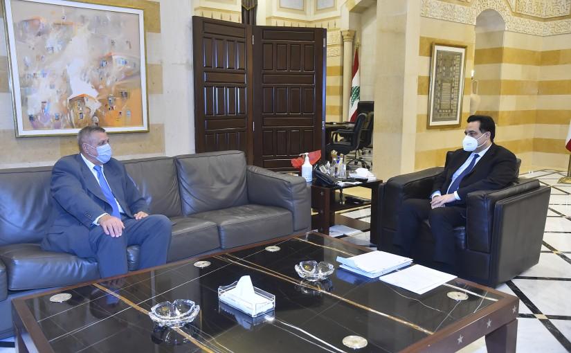 Pr Minister Hassan Diab meets Mr Jan Kubis