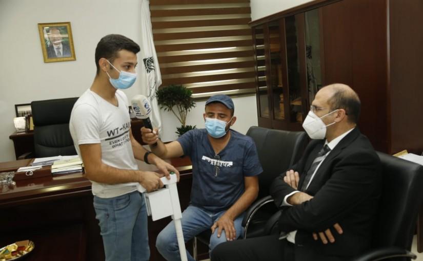 Minister Hassan Hamad meets Kid Muhammad