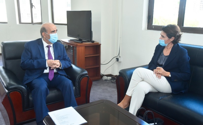 Minister Charbel Wehbeh meets French Ambassador