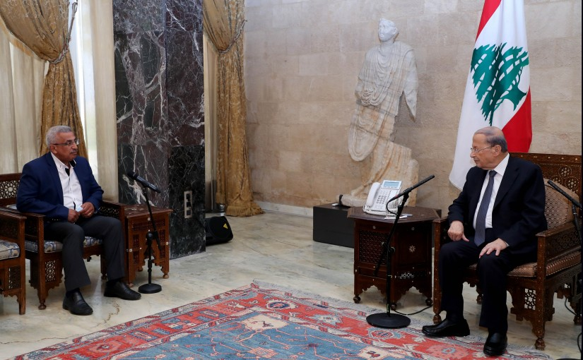 President Michel Aoun meets MP Oussama Saed
