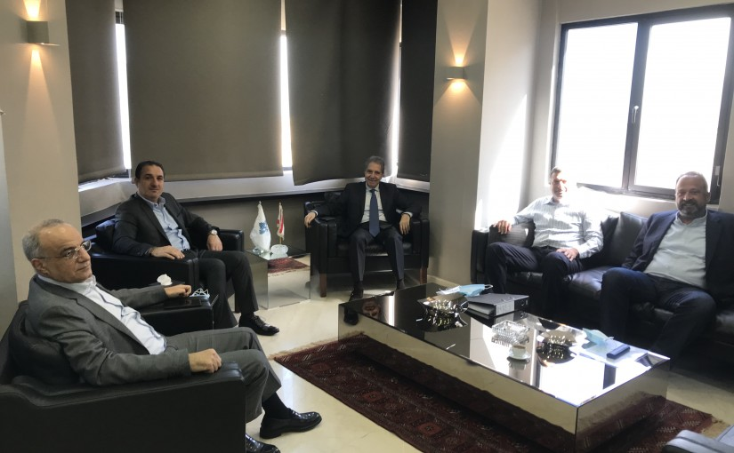 Minister Ghazi Wazni meets Minister Tallal Hawat with a Delegation