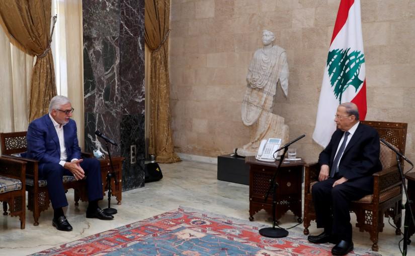 President Michel Aoun meets MP Jihad el Samad
