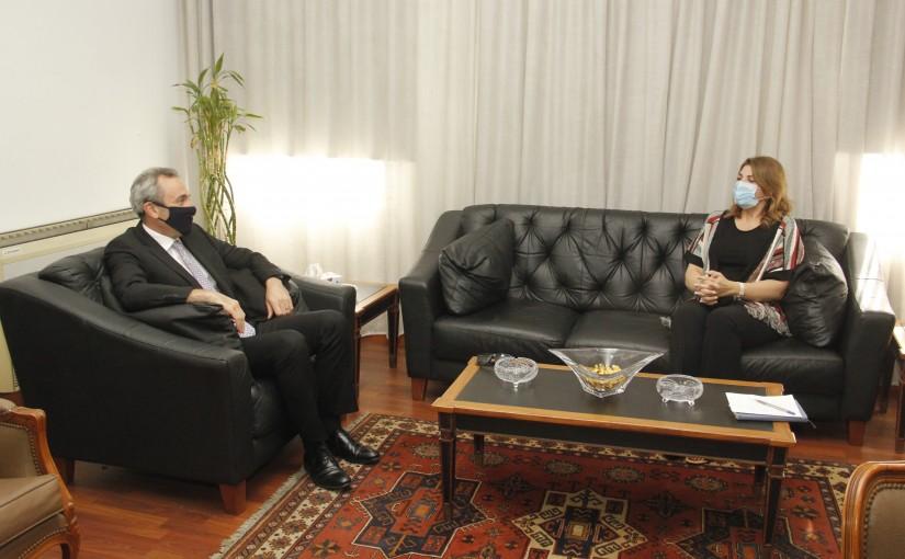 Minister Marie Claude Najem meets British Ambassador