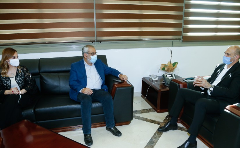 Minister Hassan Hamad meets a Delegation from Tachnak Party