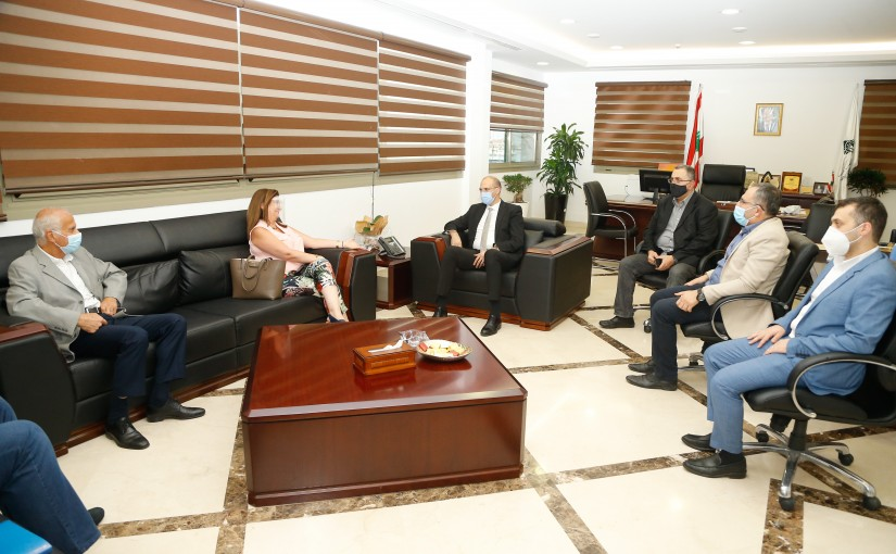 Minister Hassan Hamad meets a Delegation from Syndicate of Drug Importers