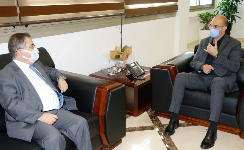 Minister Hassan Hamad meets MP Michel Moussa