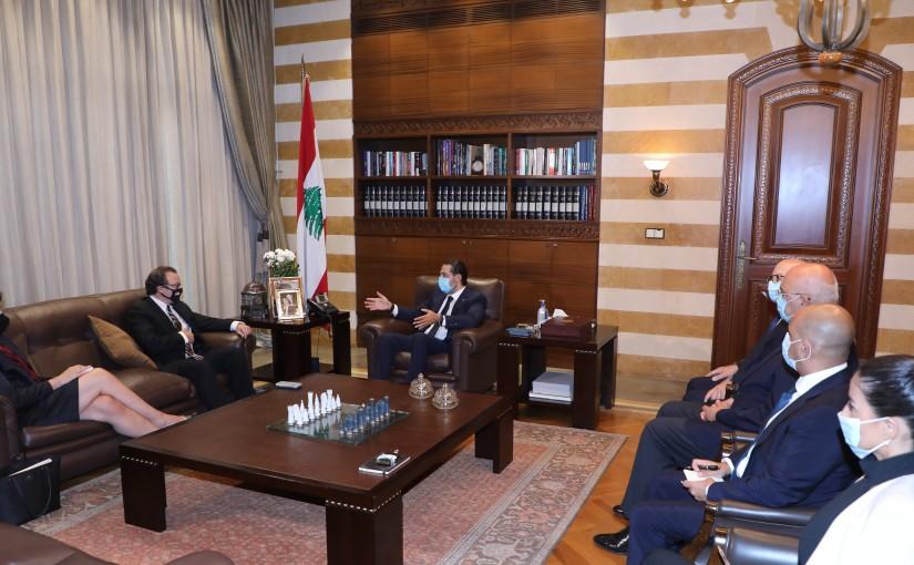 Former Pr Minister Saad Hariri meets Mr David Schenker