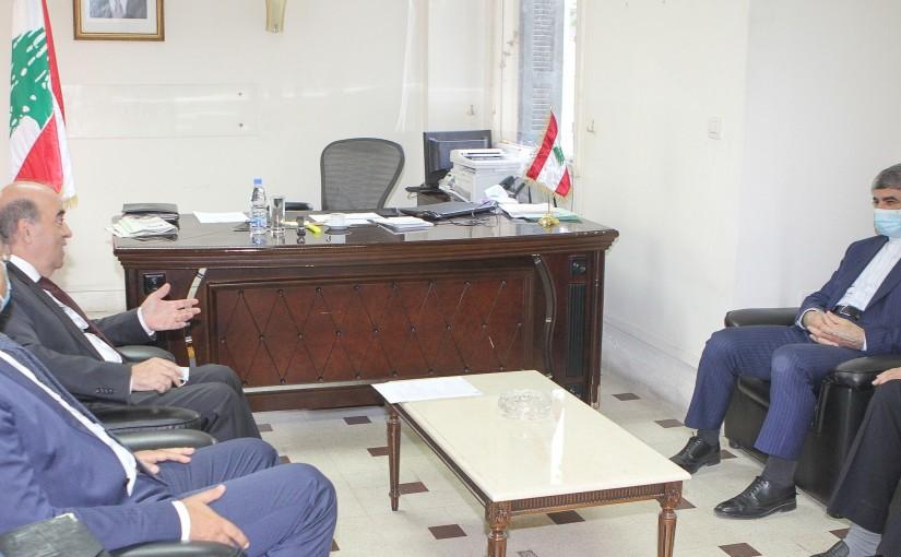 Minister Charbel Wehbeh meets Iranian Ambassador