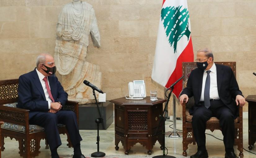 President Michel Aoun meets Development & Liberation Parliamentary Block.