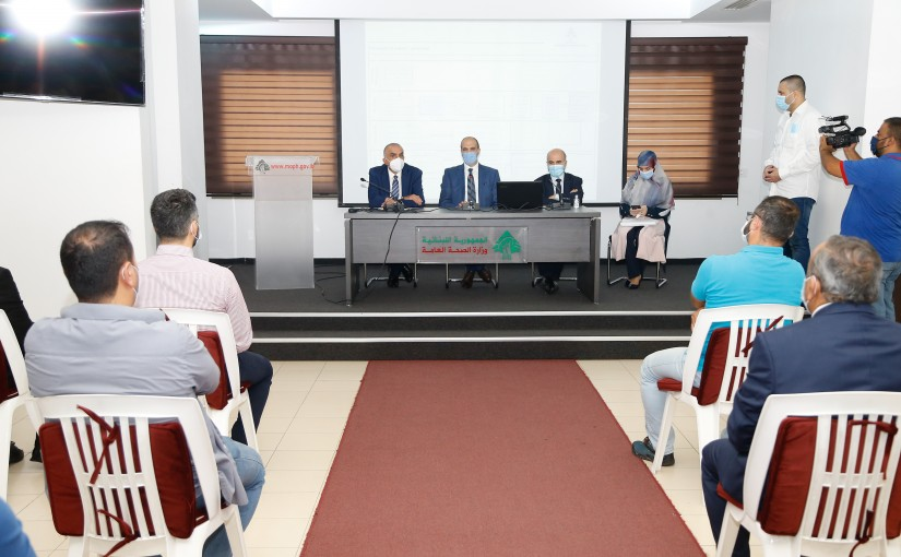 Minister Hassan Hamad meets a Delegation from Employees of Health Ministry