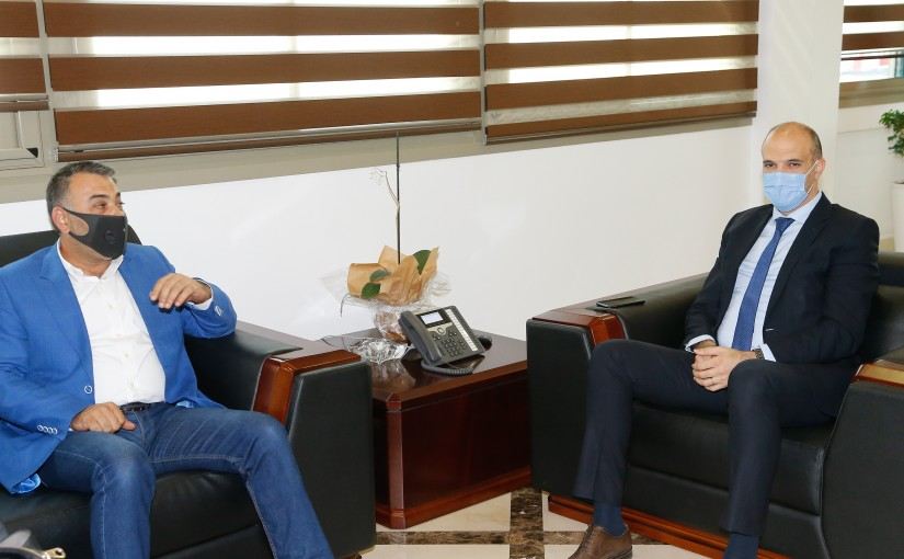 Minister Hassan Hamad meets Mp Outhman Alam el Dine