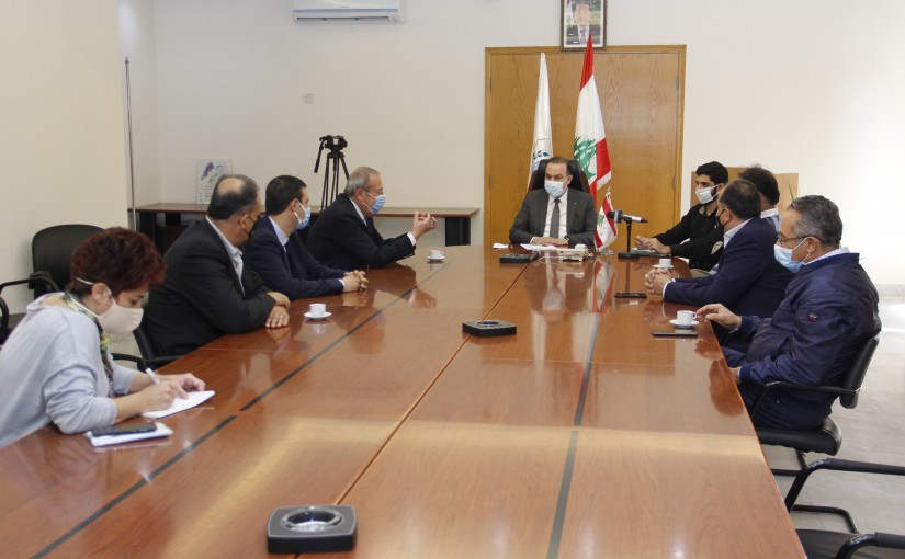Minister Abass Mourtada meets a Delegation from Lebanese Farmers