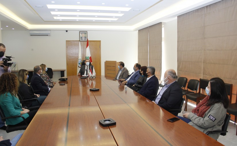 Minister Abass Mourtada meets Mrs Nadine Nassif