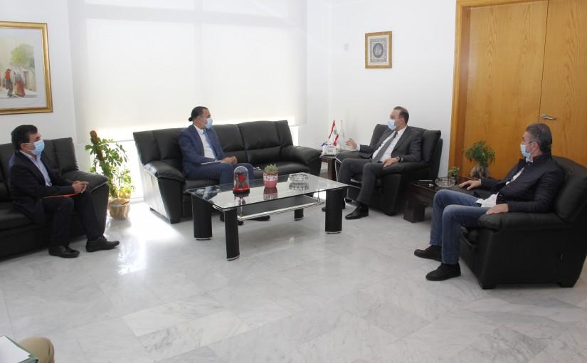 Minister Abass Mourtada meets Mr Elie Aouad
