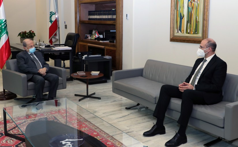 President Michel Aoun meets Dr. Hamad Hasan.
